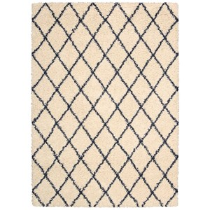 5' x 7' Ivory/Blue Rectangle Rug