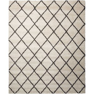 5' x 7' Ivory/Charcoal Rectangle Rug