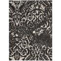 Nourison Brisbane 5' x 7' Black/White Rectangle Rug - Item Number: BRI09 BLKWH 5X7