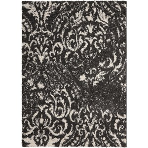 "Nourison Brisbane 8'2"" x 10' Black/White Rectangle Rug"