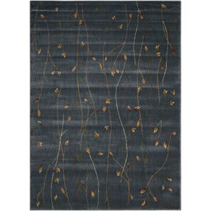 "Nourison Cambridge 5'3"" x 7'4"" Blue Rectangle Rug"