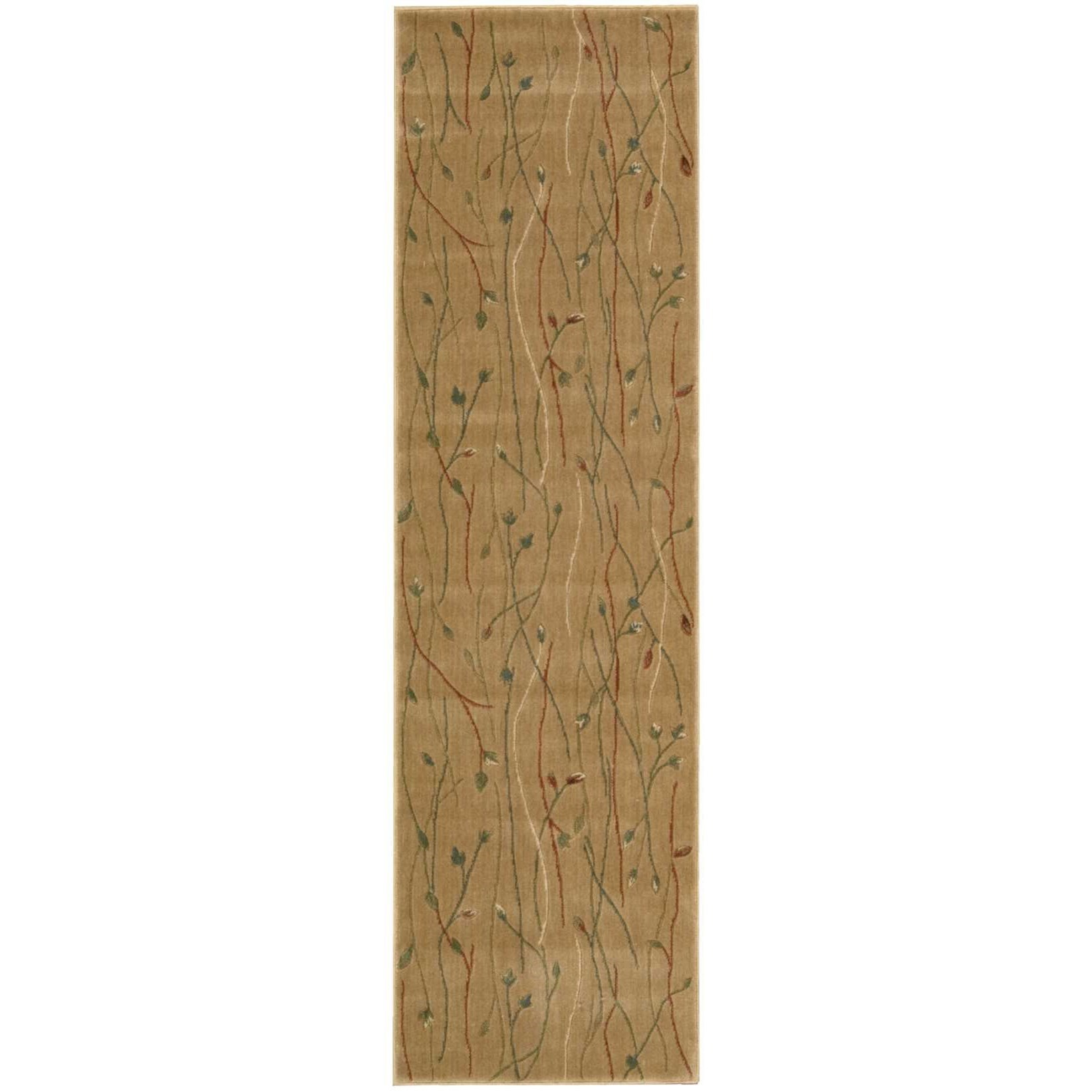 "Nourison Cambridge 2'3"" x 8' Gold Runner Rug - Item Number: CG04 GLD 23X8"