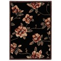 "Nourison Cambridge 2' x 2'9"" Black Rectangle Rug - Item Number: CG08 BLK 2X29"