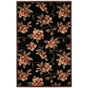 "Nourison Cambridge 3'6"" x 5'6"" Black Rectangle Rug"