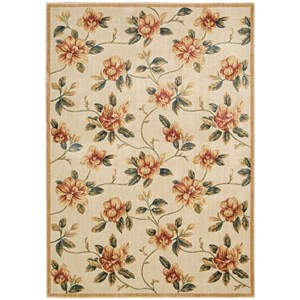"Nourison Cambridge 5'3"" x 7'4"" Ivory Rectangle Rug"
