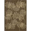 "Nourison Capri 5'3"" x 7'5"" Chocolate Area Rug - Item Number: 02005"