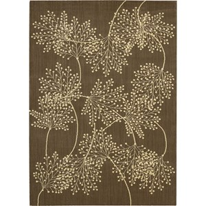 "Nourison Capri 9'6"" x 13' Chocolate Area Rug"
