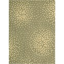 "Nourison Capri 5'3"" x 7'5"" Light Green Area Rug - Item Number: 02051"