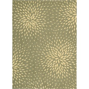 "Nourison Capri 9'6"" x 13' Light Green Area Rug"