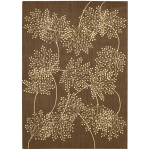 "Nourison Capri 9'6"" x 13' Chocolate Rectangle Rug"