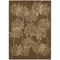 "Nourison Capri 9'6"" x 13' Chocolate Rectangle Rug - Item Number: CAP1 CHO 96X13"