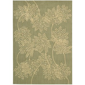 "Nourison Capri 3'6"" x 5'6"" Sage Rectangle Rug"