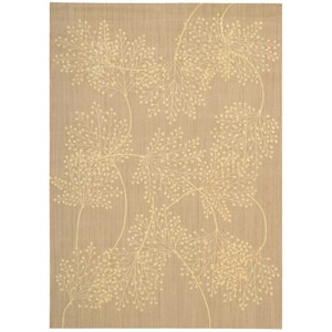 "Nourison Capri 5'3"" x 7'5"" Sand Rectangle Rug"