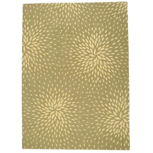 "Nourison Capri 9'6"" x 13' Light Green Rectangle Rug"