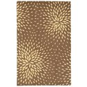 "Nourison Capri 5'3"" x 7'5"" Mocha Rectangle Rug - Item Number: CAP2 MOC 53X75"