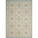 "Nourison Caribbean 5'3"" x 7'5"" Ivory Blue Rectangle Rug - Item Number: CRB02 IVBLU 53X75"