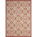 "Nourison Caribbean 3'11"" x 5'11"" Iv/Rust Rectangle Rug - Item Number: CRB02 IVRUS 311X511"