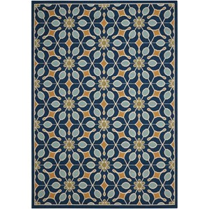 "Nourison Caribbean 3'11"" x 5'11"" Navy Rectangle Rug"