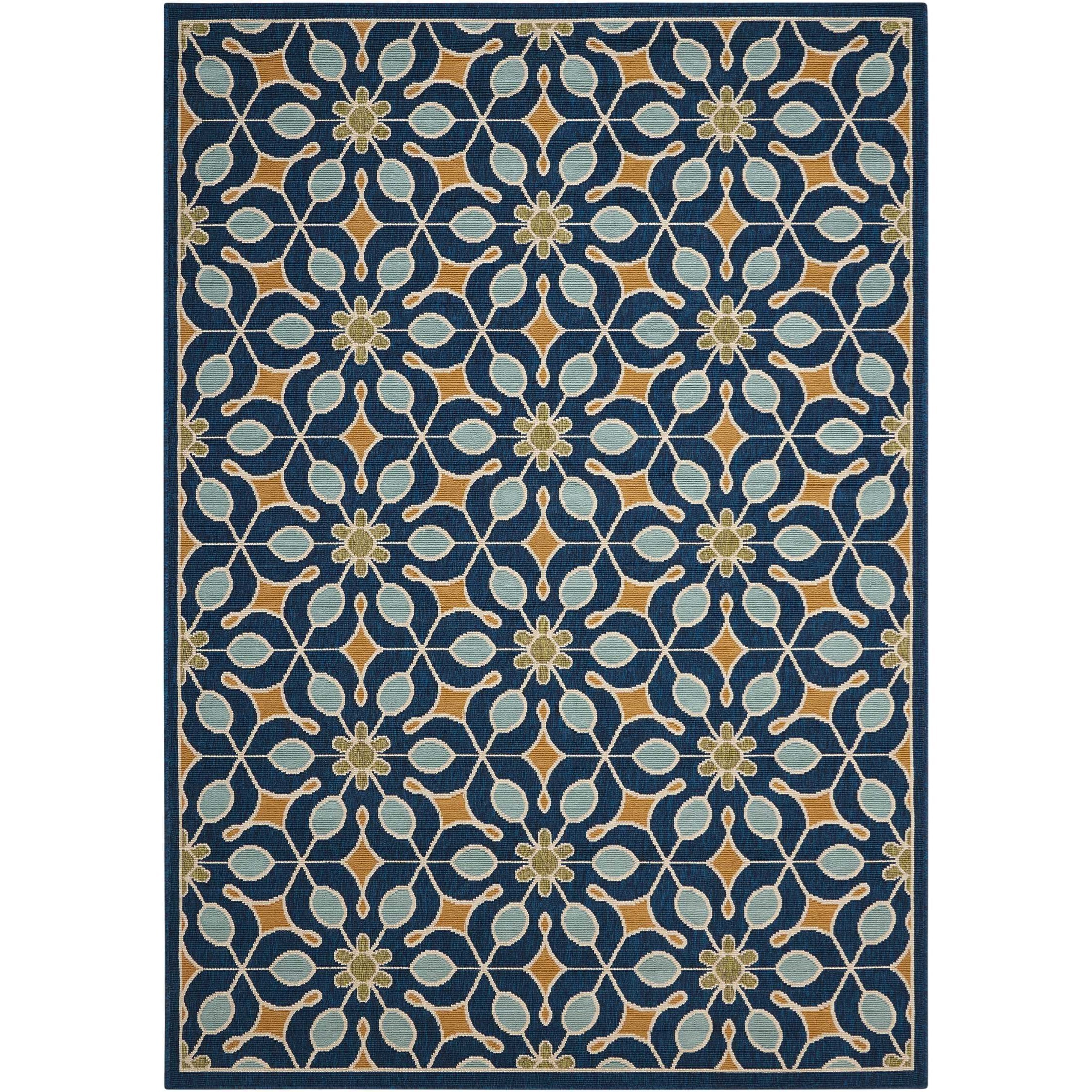 "5'3"" x 7'5"" Navy Rectangle Rug"