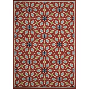 "Nourison Caribbean 7'10"" x 10'6"" Rust Rectangle Rug"