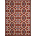 "Nourison Caribbean 9'3"" x 12'9"" Rust Rectangle Rug - Item Number: CRB07 RUS 93X129"
