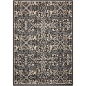 "Nourison Caribbean 3'11"" X 5'11"" Charcoal Rug - Item Number: CRB12 CHARC 311X511"