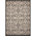 "Nourison Caribbean 9'3"" X 12'9"" Ivory/Charcoal Rug - Item Number: CRB12 IVCHA 93X129"