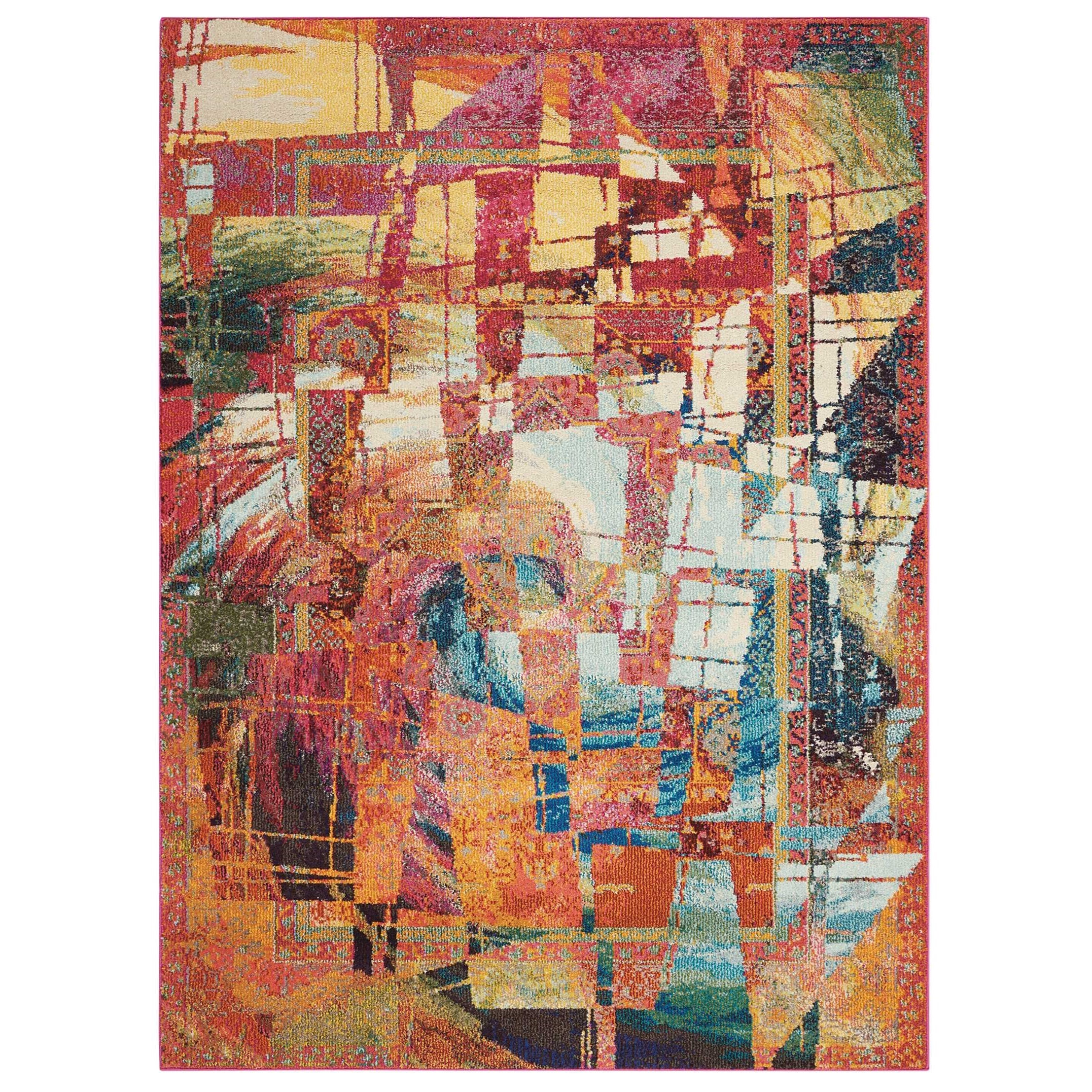 """3'11"""" X 5'11"""" Stained Glass Rug"""