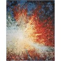 "Nourison Chroma 5'6"" X 8' Red Flare            Rug - Item Number: CRM02 REDFL 56X8"