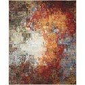 """Nourison Chroma 9'9"""" X 12'8"""" Ember Glow           Rug - Item Number: CRM03 EMBGL 99X128"""