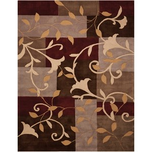 "Nourison Contour 5' x 7'6"" Mocha Rectangle Rug"
