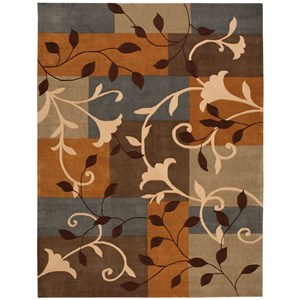"Nourison Contour 8' x 10'6"" Multicolor Rectangle Rug"