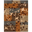 "Nourison Contour 8' x 10'6"" Multicolor Rectangle Rug - Item Number: CON01 MTC 8X106"