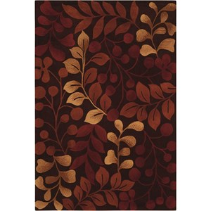 "Nourison Contour 7'3"" x 9'3"" Chocolate Rectangle Rug"
