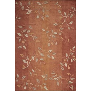 "Nourison Contour 7'3"" x 9'3"" Cinnamon Rectangle Rug"