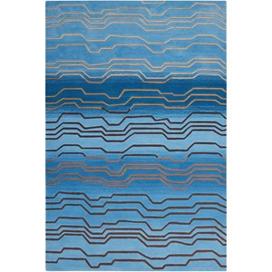 "Nourison Contour 5' x 7'6"" Azure Rectangle Rug"