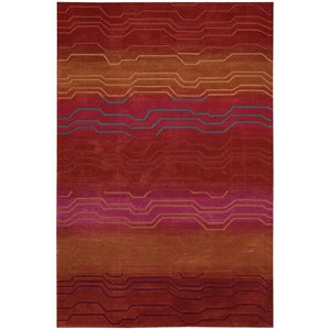 "Nourison Contour 7'3"" x 9'3"" Sunburst Rectangle Rug"
