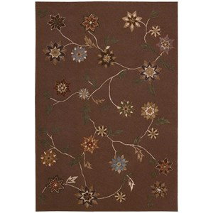 "Nourison Contour 8' x 10'6"" Brown Rectangle Rug"