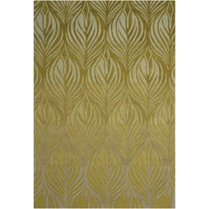 "Nourison Contour 3'6"" x 5'6"" Green Rectangle Rug"