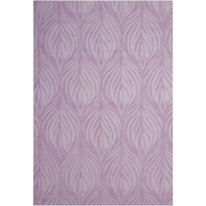 "Nourison Contour 3'6"" x 5'6"" Lavender Rectangle Rug"