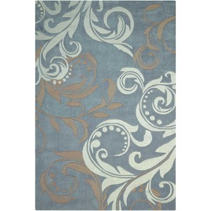 "Nourison Contour 7'3"" x 9'3"" Silver Rectangle Rug"