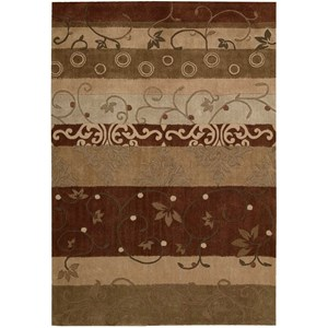 "Nourison Contour 3'6"" x 5'6"" Multicolor Rectangle Rug"