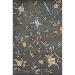 "Nourison Contour 5' x 7'6"" Slate Rectangle Rug"