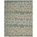 "Nourison Contour 7'3"" x 9'3"" Sage Rectangle Rug - Item Number: CON16 SAG 73X93"