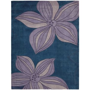 "Nourison Contour 5' x 7'6"" Blue Rectangle Rug"