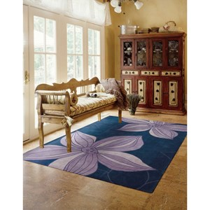 "7'3"" x 9'3"" Blue Rectangle Rug"