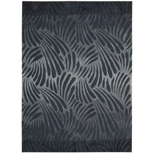 "Nourison Contour 3'6"" x 5'6"" Charcoal Rectangle Rug"