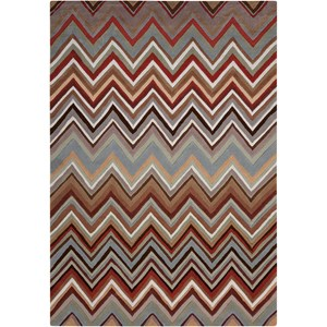 "Nourison Contour 7'3"" x 9'3"" Multicolor Rectangle Rug"
