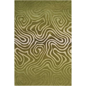 "Nourison Contour 3'6"" x 5'6"" Avocado Rectangle Rug"