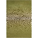 "Nourison Contour 8' x 10'6"" Avocado Rectangle Rug - Item Number: CON24 AVOCA 8X106"